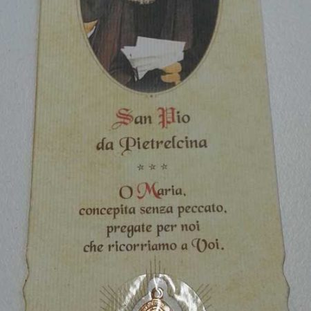 RA0026 - BOOKMARK WITH PADRE PIO MEDAL