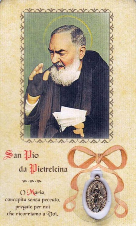 RA0026B - BOOKMARK WITH PADRE PIO MEDAL