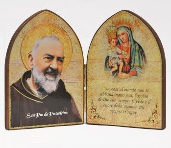RA0038 - MDF MEDIUM DIPTYCH WITH MADONNA